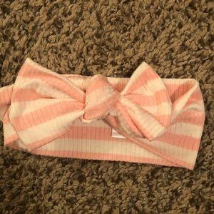 Lou Lou & Company Pink Striped Headband
